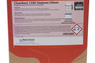 Cleanbest1240 - Chloorhoudend vaatwasmiddel